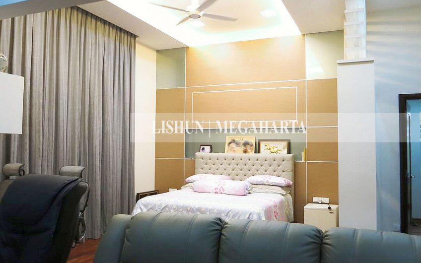 SETIA ECO PARK 3-Storey Own-Built Bungalow House with Lift. Fully Furnished. Owner Migrated.